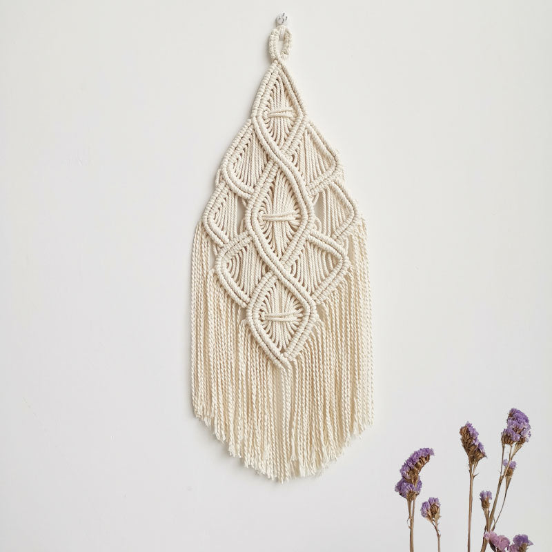 Handmade Macrame Wall Hanging Cotton Tapestry