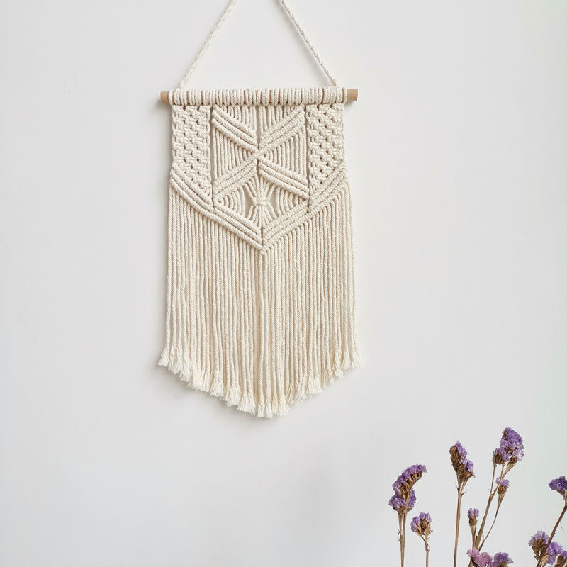 Set of 2 Handmade Macrame Wall Hanging Tapestry Macrame Wall Pendants