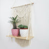 Macrame Wall Hanging Wood Stand Handmade Hanging Plant Holder