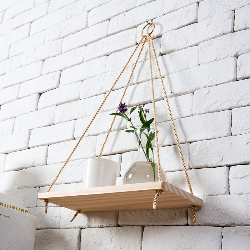 Wall Hanging Shelf Hanging Plant Stand Wall Wood Shelf Plant Pot Rack Wall Hanging Plant Holder
