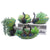 4 Pack Resin Green Peacock Succulent Planter Vintage Cactus Small Container