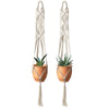 Set of 2 Macrame Plant Hanger Hanging Planter Container Wall Arts, 41 inches