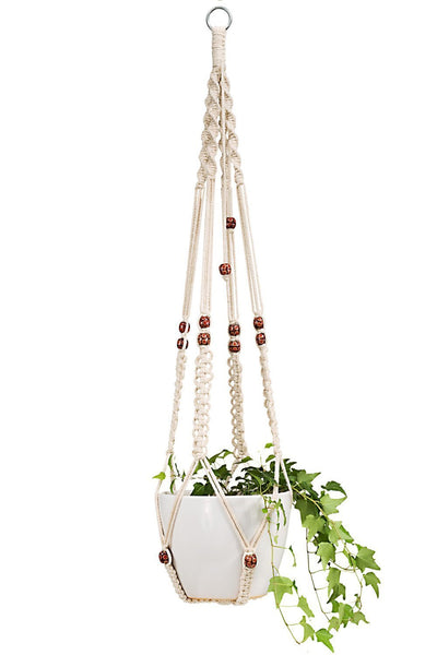 Pack of 3 Macrame Plant Hangers Indoor Wall Hanging Planter Basket Flower Pot