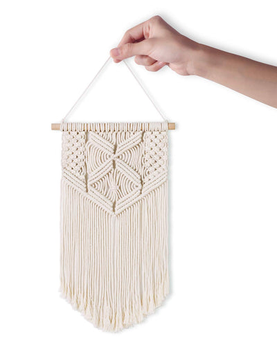2 Pcs Macrame Wall Hanging Small Art Woven Wall Decor Boho Chic Home Decoration