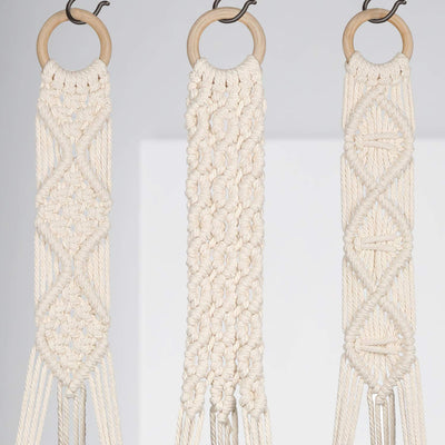 Set of 3 Styles Macrame Plant Hangers Hanging Plant Pot Holders