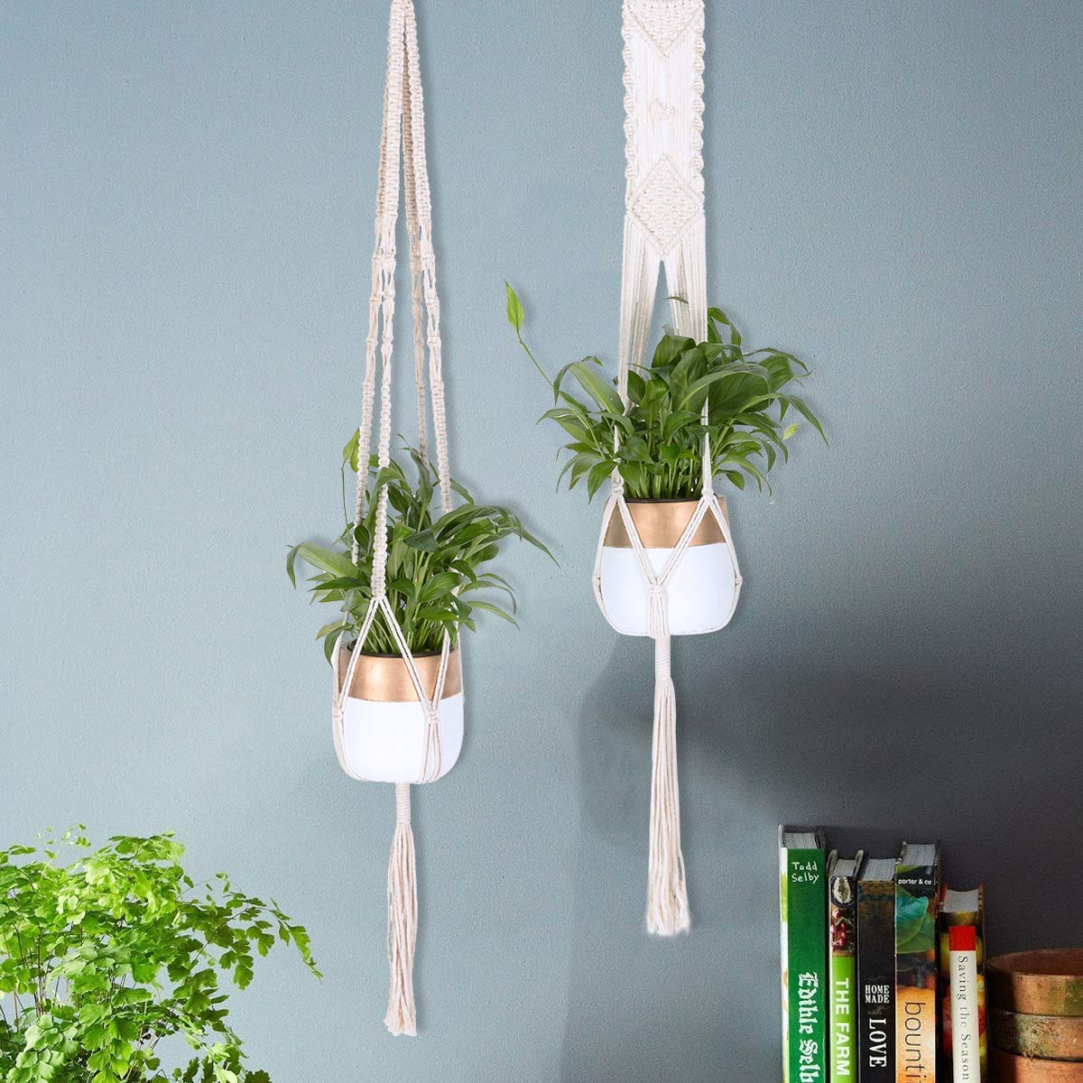 Set of 3 Macrame Plant Hangers Macrame Hanging Planter Indoor