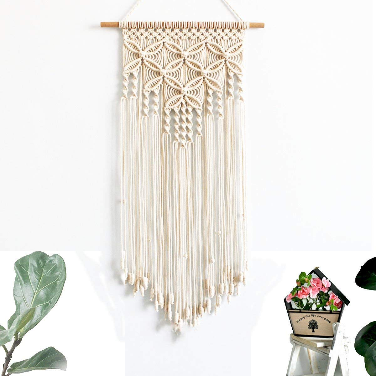Macrame Wall Hanging Natural Cotton Handmade Woven Tapestry Art Home Decoration
