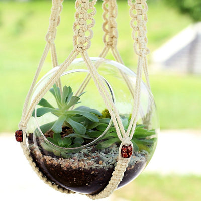 Pack of 2 Macrame Plant Hanger Hanging Planter Basket 35 Inch