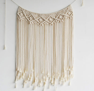 "Handmade Macrame Wall Hanging Tapestry Wall Decor, 42""x 35"""