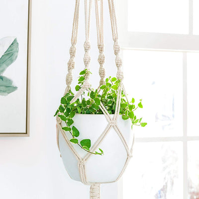Set of 2 Macrame Plant Hanger Hanging Planter Macrame Plant Holders