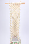 Handmade White Macrame Plant Hanger Macrame Hanging Planter Flower Pot Holder