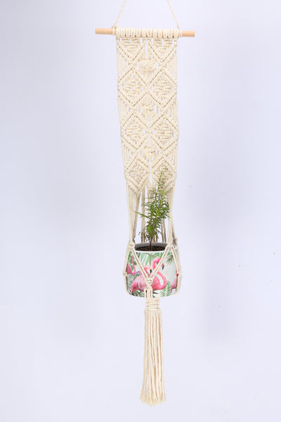 Handmade Macrame Plant Hanger Hanging Plant Basket 41 Inches