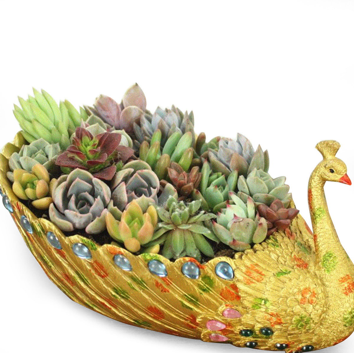 Exquisite Golden Succulent Planter Vintage Cactus Container Succulent Planter
