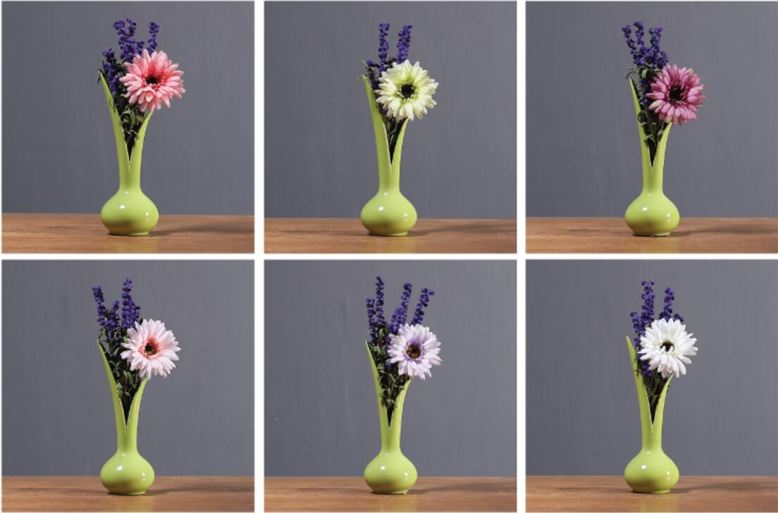 Tabletop Decorative Vase Artificial Flower Vase Small Ceramic Vase Plant Pot
