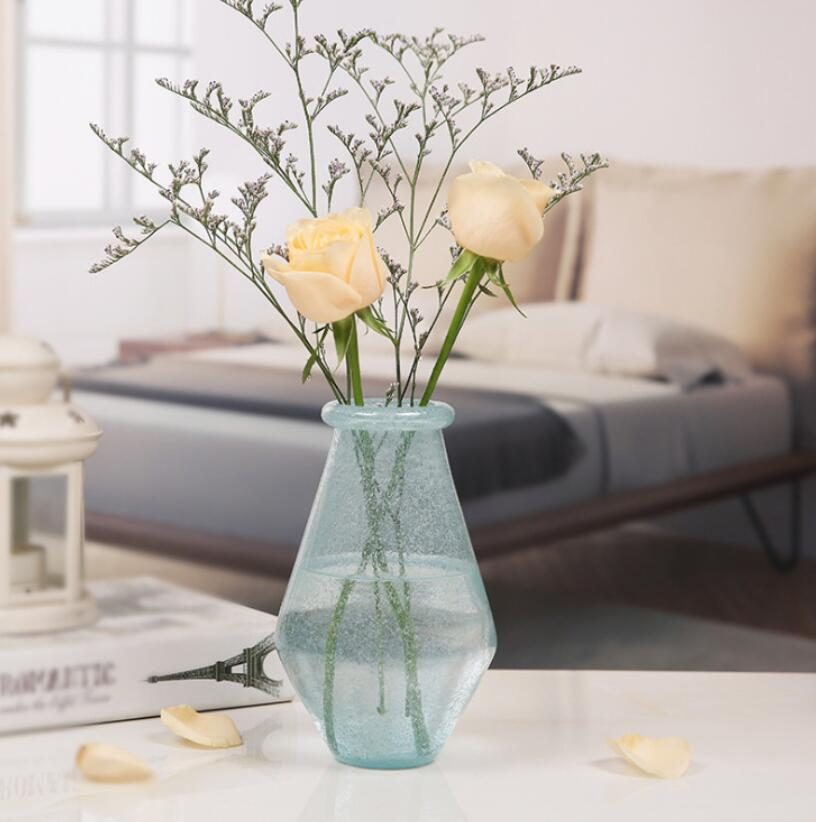 Tabletop Decorative Polishing Glass Geometrical Flower Vase Plant Pot