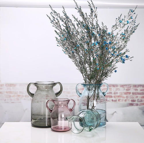 Tabletop Decorative Glass Bubbles Flower Vase Plant Pot