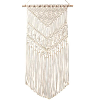 "Macrame Wall Hanging Art Woven Tapestry Boho Home Decor, 17"" W x 33"" L"