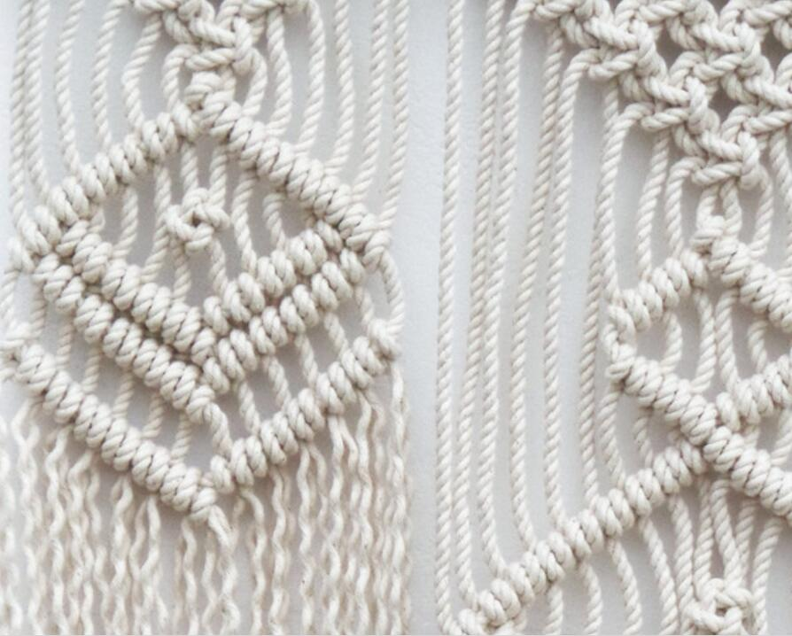 LARGE MACRAME WALL HANGING MACRAME BACKDROP TAPESTRY