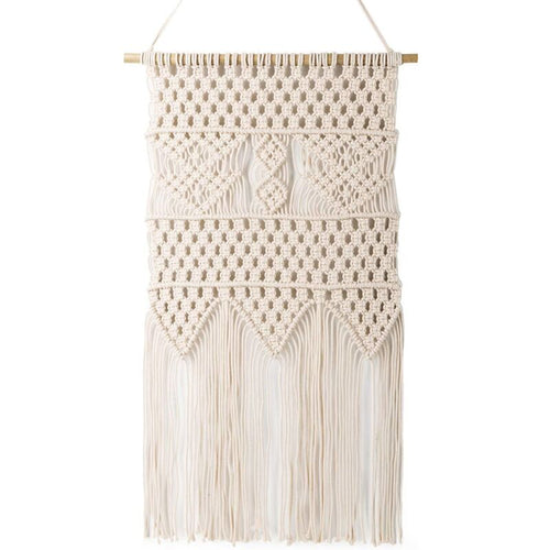"Macrame Wall Hanging Tapestry Wall Art 13.0""W x 23.6""L"