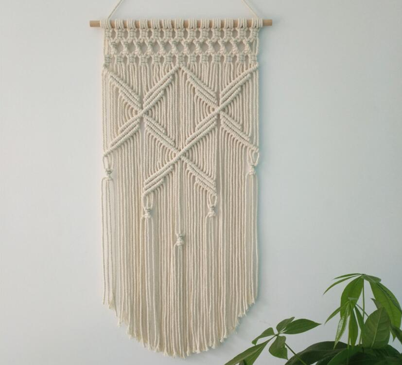 Hand Knitted Wall Hanging Decors Bohemia Tapestry Arts