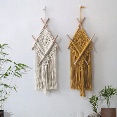 Macrame Wall Hanging Tapestry Boho Wall Pediment