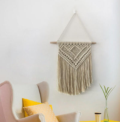 100% Cotton Macrame Wall Hanging Handicraft Wall Decorative Tapestry