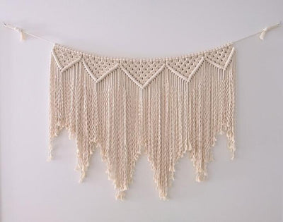 Hand Woven Macrame Wall Hanging Handicraft Wall Decorative Tapestry