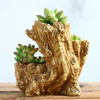 Driftwood Irregular Planter Faux Wood Planter Log Planter Pot  Stump Container Tree Root Cactus Container