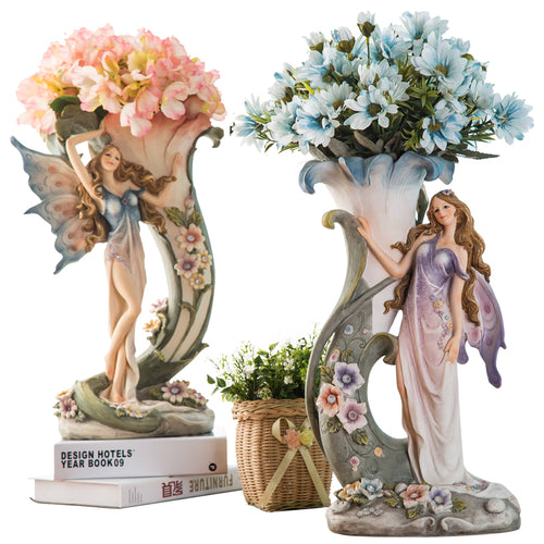 Beautiful Dreamy Girls Shape Flower Vase Adorable Modern Home Decoration Vase Flower Vase