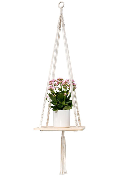 Handmade Macrame Shelf Hanging Planter Plant Hanger Hanging Planter