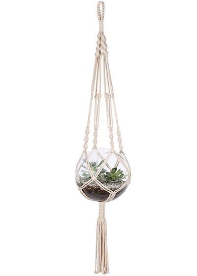 Pack of 2 Macrame Plant Hangers Hanging Planter Basket 41 Inch