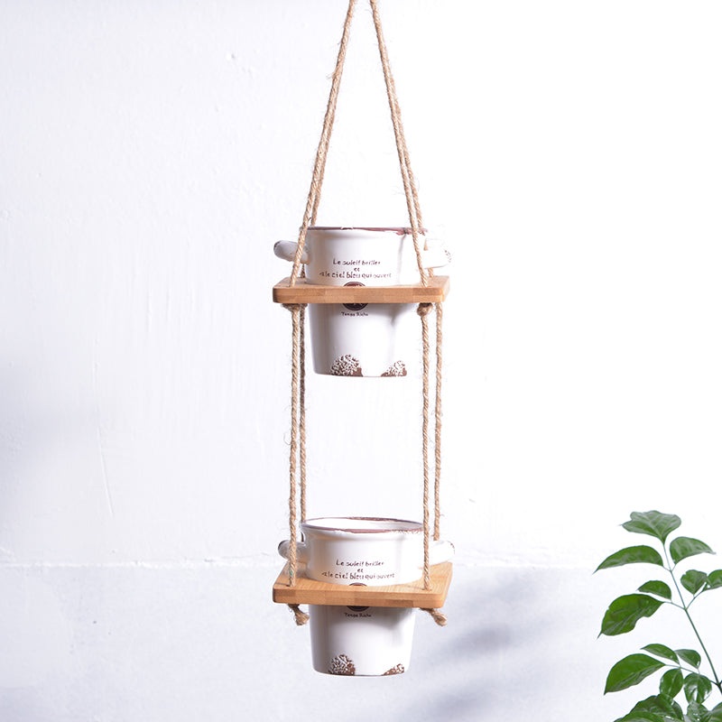 Vintage Hanging Planter Hanging Plant Containers Ceramic Vase