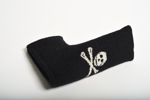 Jolly Roger Black Needlepoint Putter Headcover
