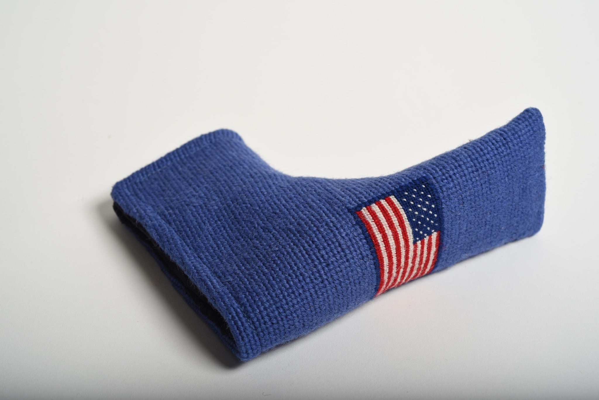American Flag Ocean Blue Needlepoint Blade Putter Headcover