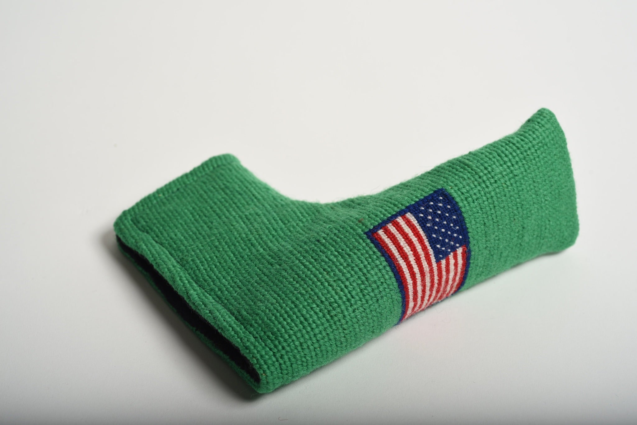 American Flag Kelly Green Needlepoint Putter Headcover