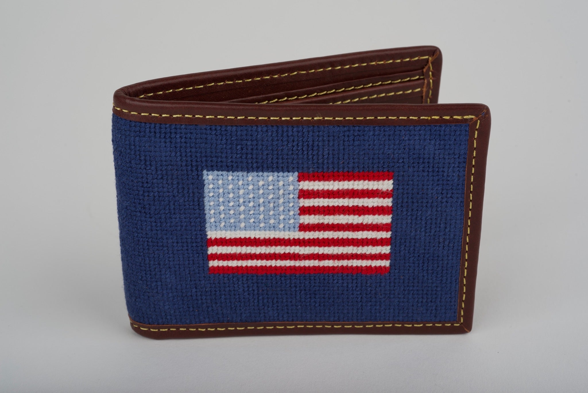 USA Navy Needlepoint Wallet