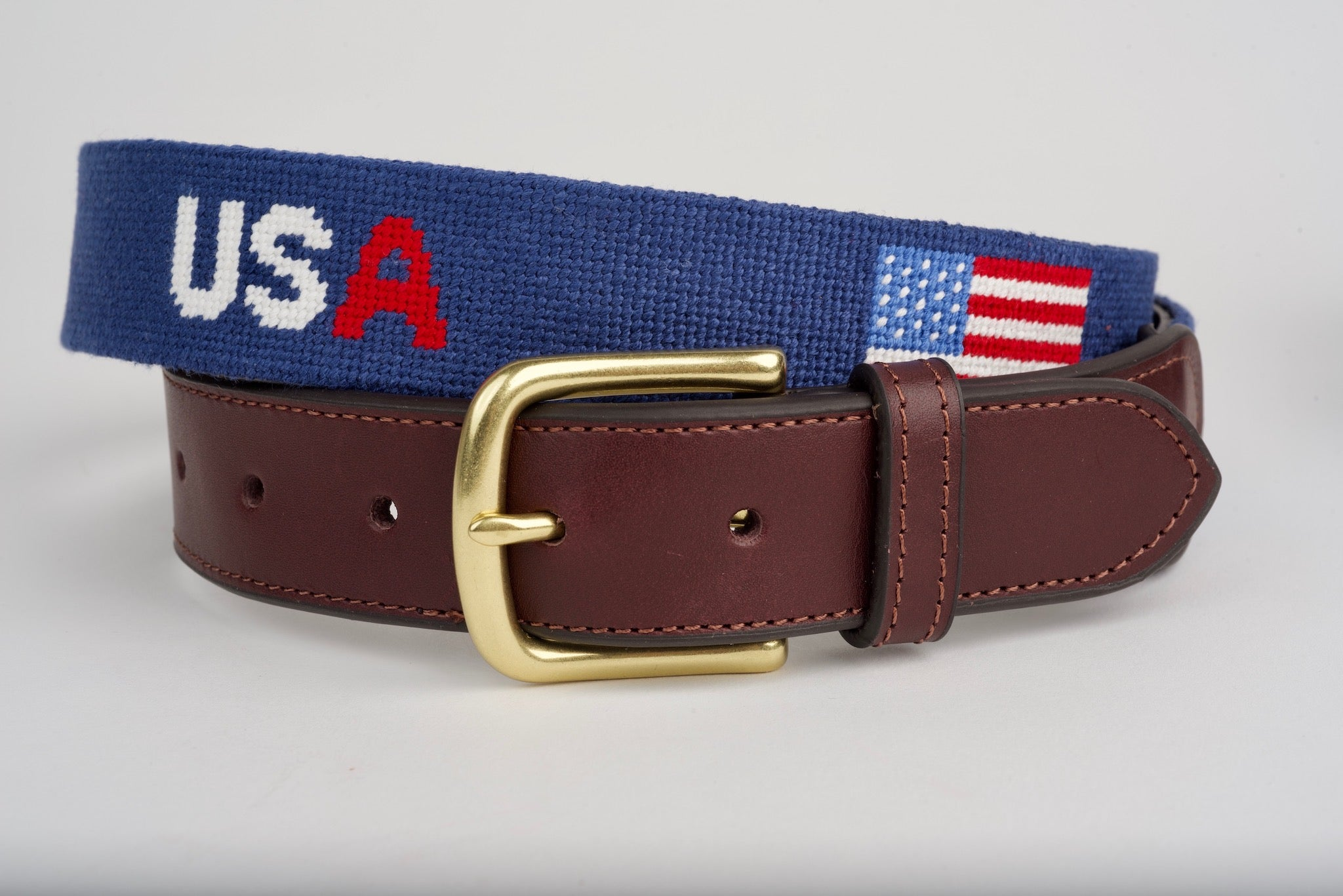 USA Navy Needlepoint Belt