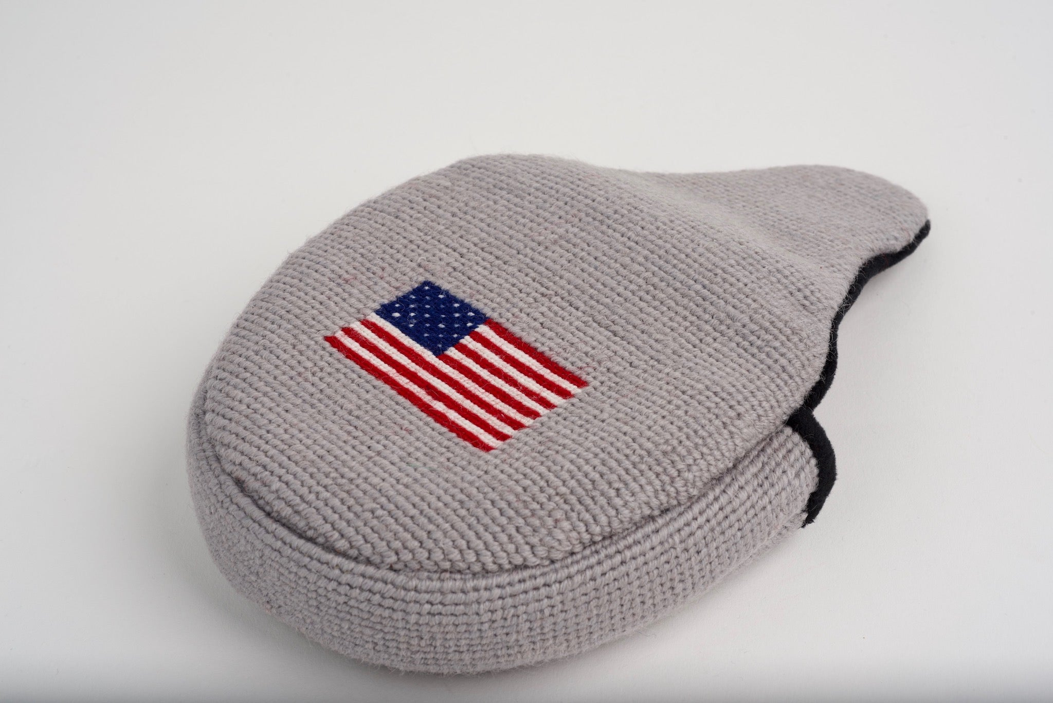 American Flag Cloud Grey Needlepoint Mallet Putter Headcover