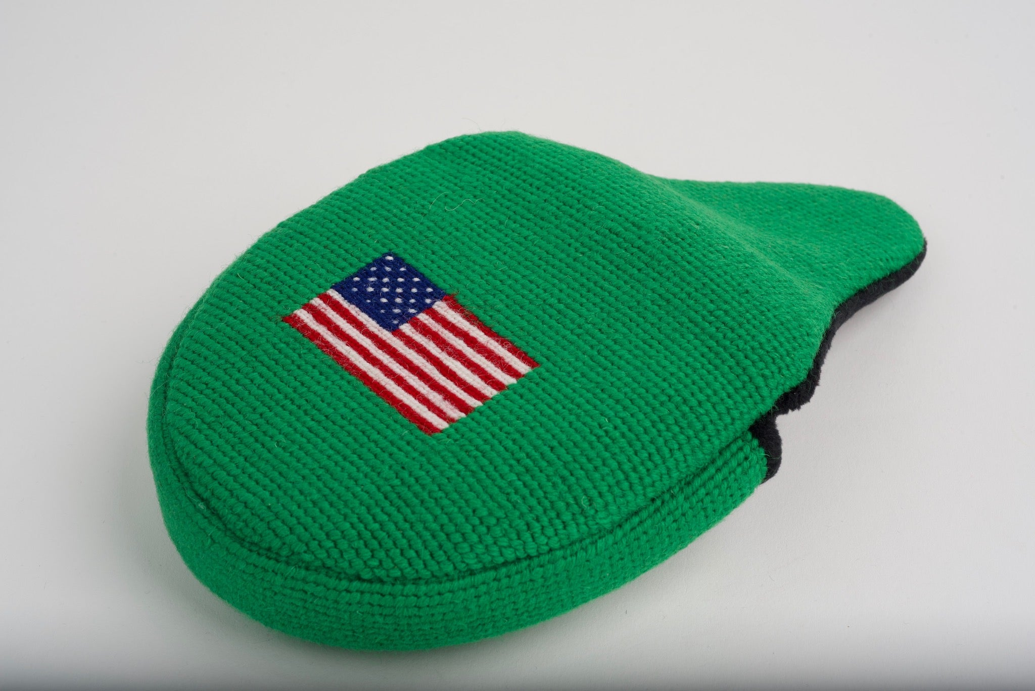 American Flag Kelly Green Needlepoint Mallet Putter Headcover