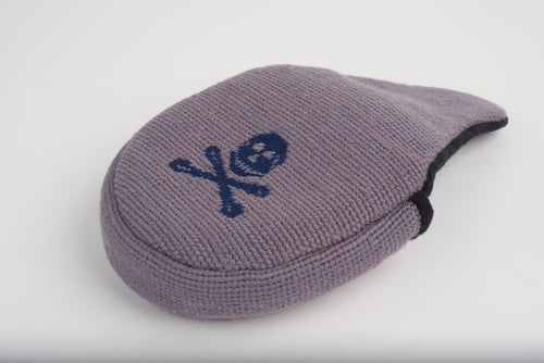 Jolly Roger Satin Grey Needlepoint Mallet Putter Headcover