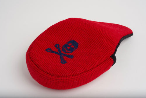 Jolly Roger Red Needlepoint Mallet Putter Headcover