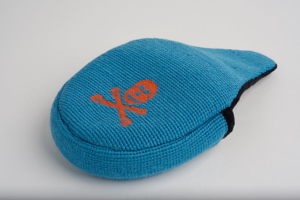 Jolly Roger Summer Blue Needlepoint Mallet Putter Headcover