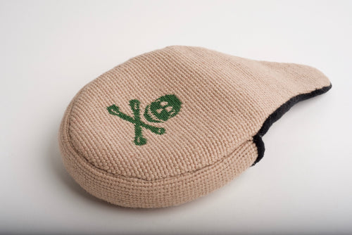Jolly Roger Khaki Needlepoint Mallet Putter Headcover