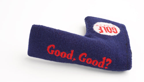 Golf Digest Select Navy Needlepoint Blade Putter Headcover