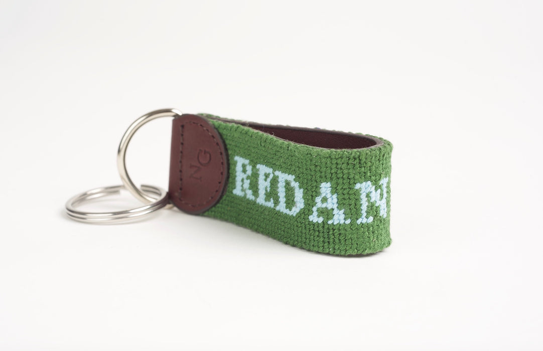 Template Hole Green Key Fob
