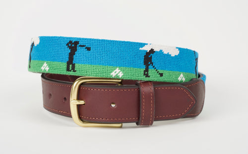 Live From the Range Needlepoint Belt