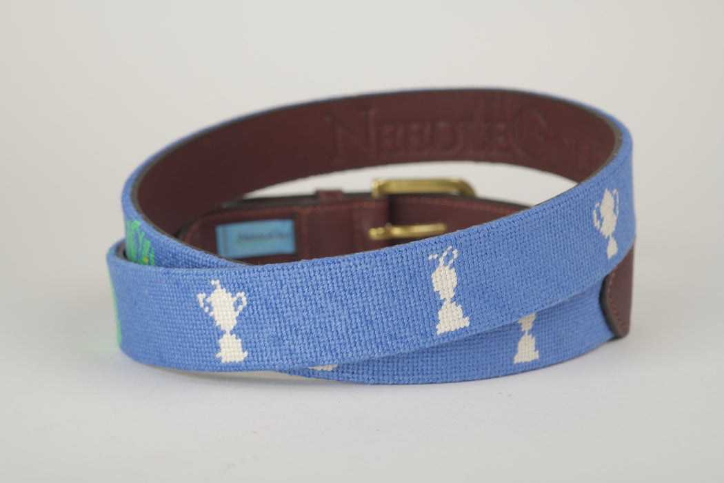 The Majors Light Blue Needlepoint Belt
