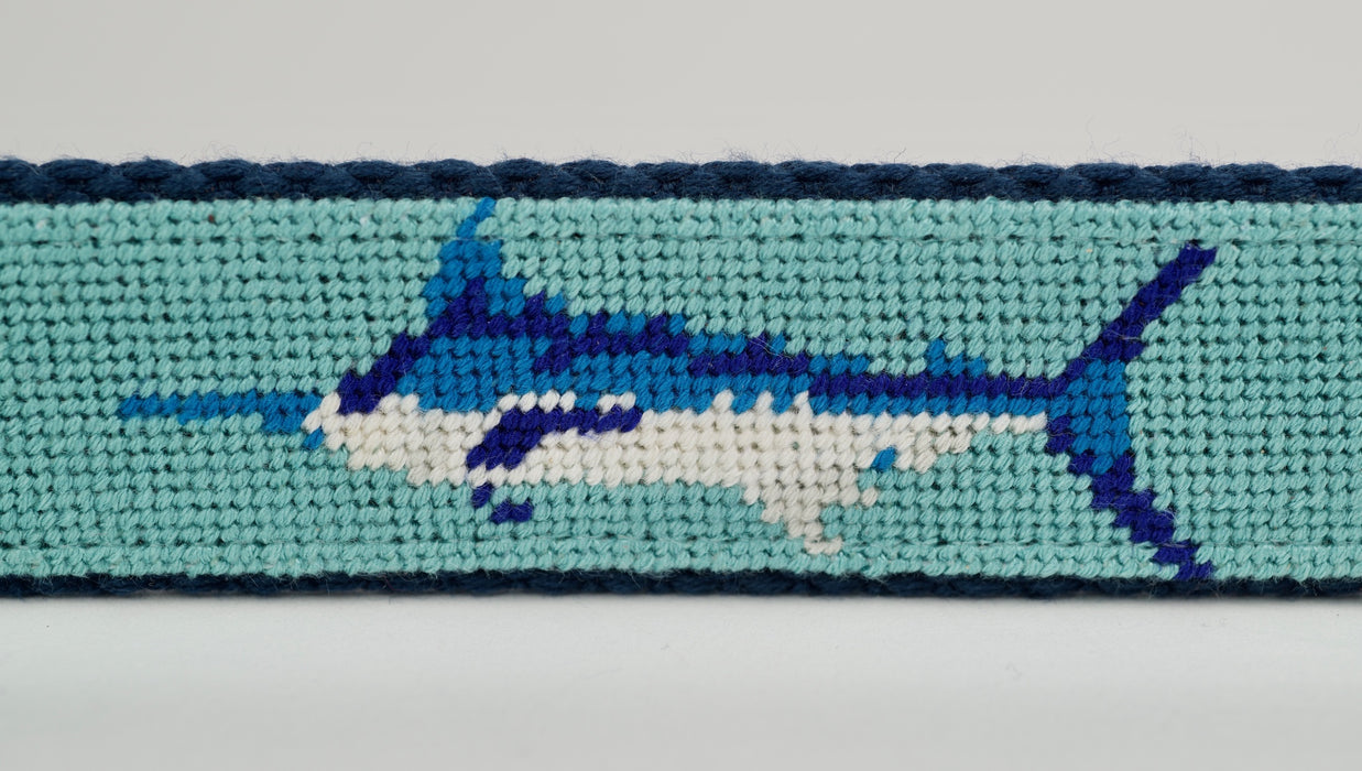 Marlin Needlepoint Canvas Belt