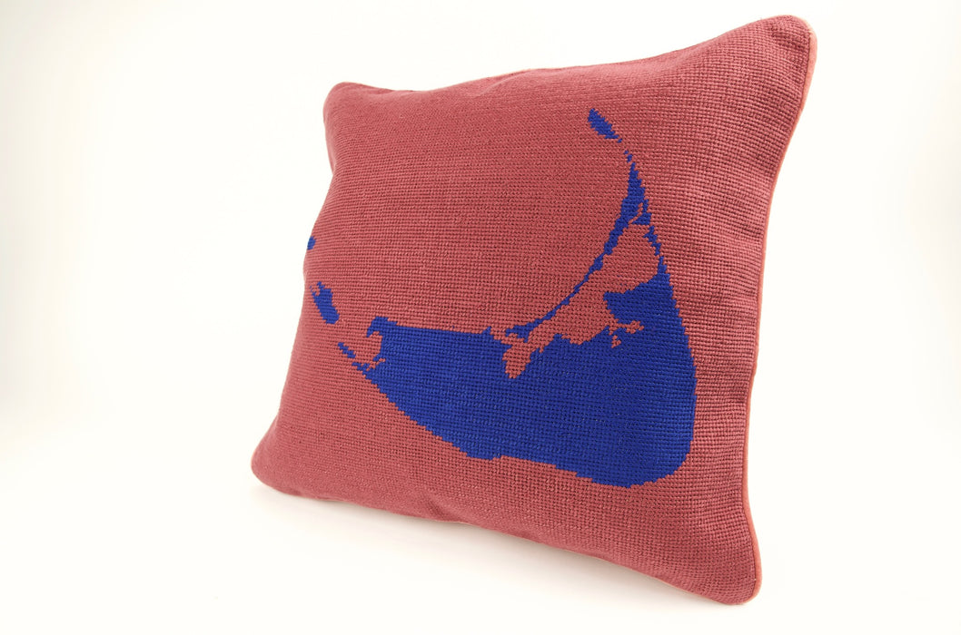 Nantucket Needlepoint Pillow