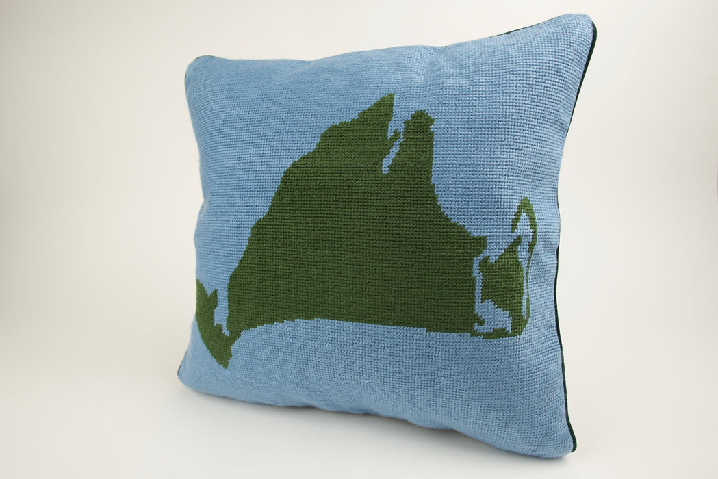 Martha's Vineyard Needlepoint Pillow